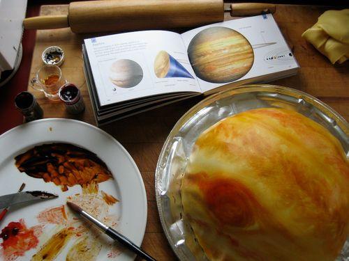 marshmalow fondant Jupiter cake