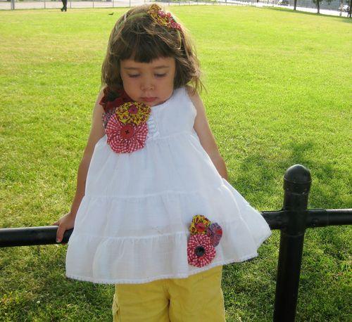 fabric yo-yo dress