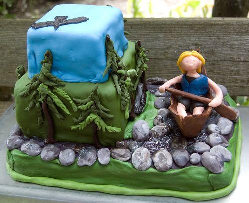 river canoe cake